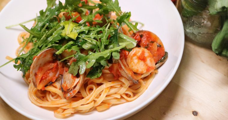 Clam and Shrimp Pasta