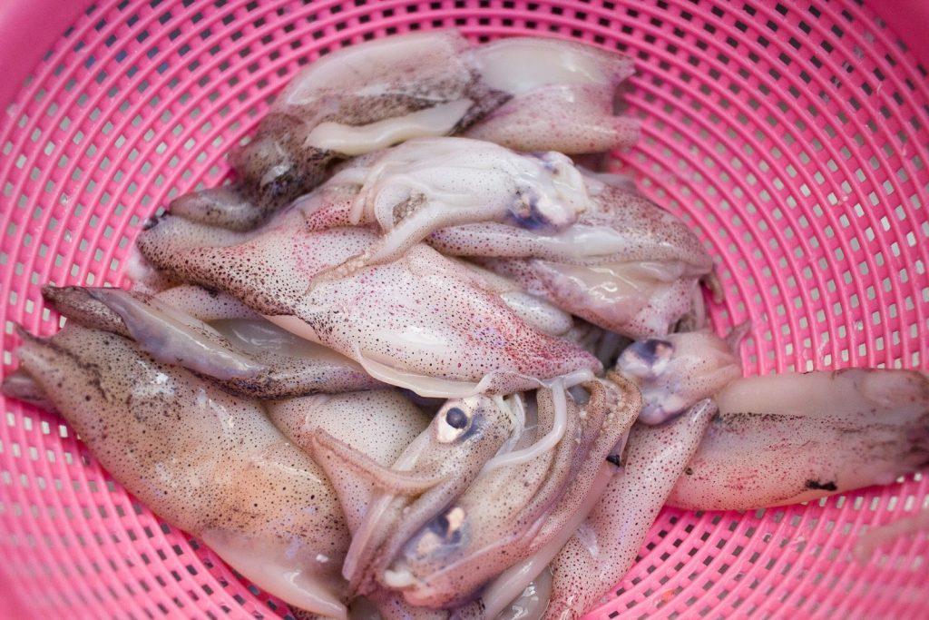 Adobong pusit - raw squid
