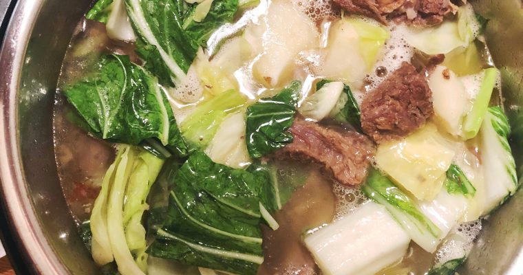 Nilagang Baka – Filipino beef and vegetable soup Instant Pot recipe