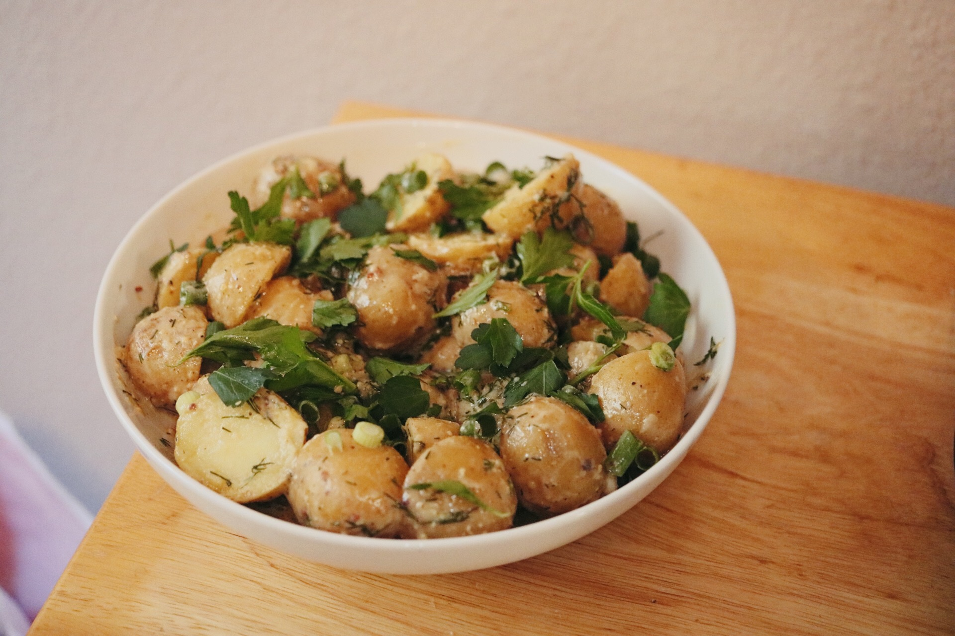 Dijon Mustard and Vinegar Potato Salad