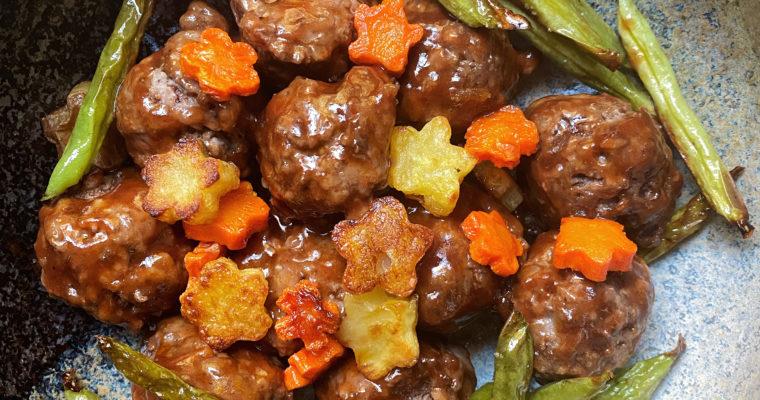 Japanese Hambagu (ハンバーグ) Meatballs