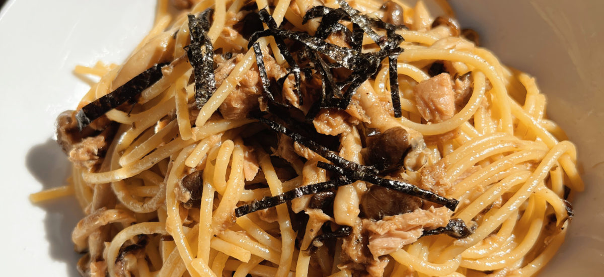 Tuna Mushroom Pasta – Japanese Style